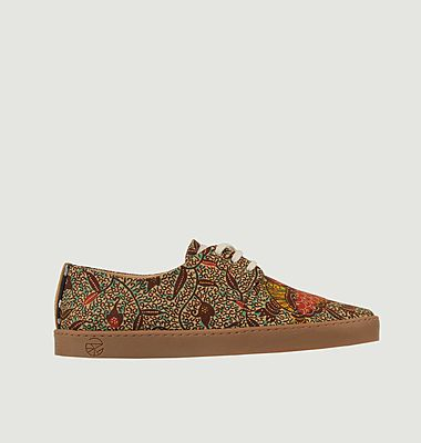 Sneakers en toile wax Luanda