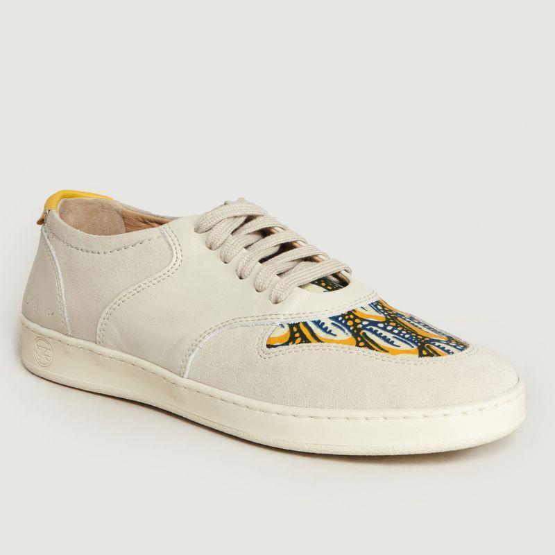 Baskets Basses Sahara-Crème - Panafrica