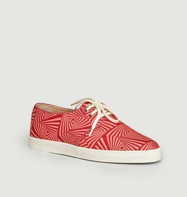 Sneakers en toile wax Zanzibar