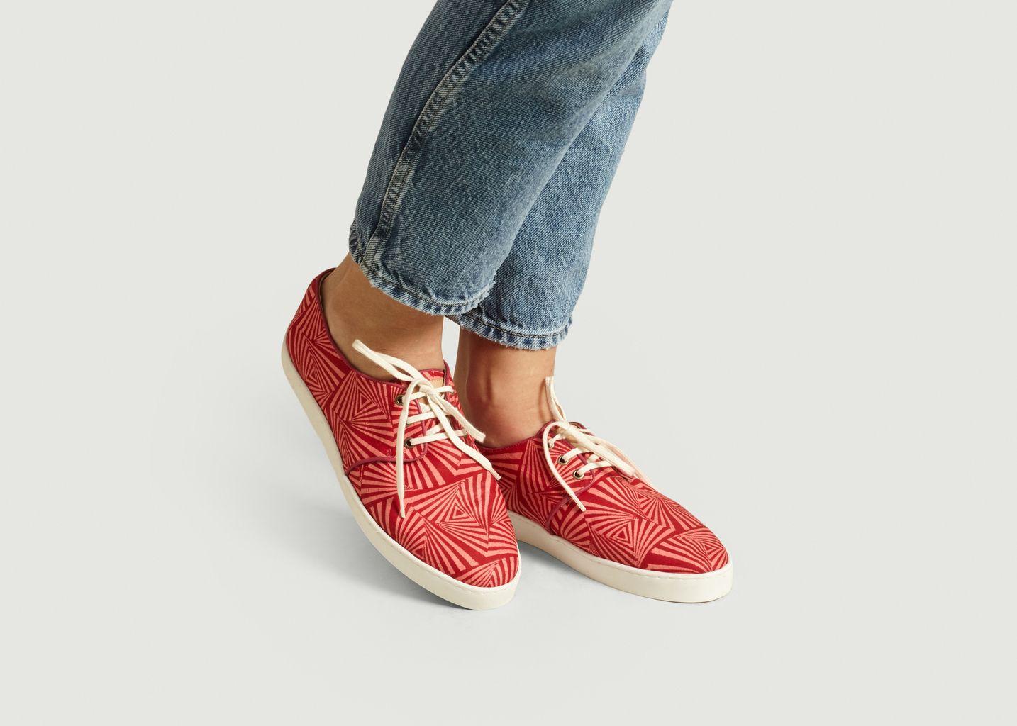 Sneakers en toile wax Zanzibar - Panafrica