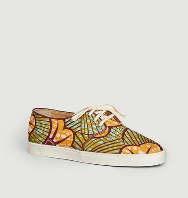 Sneakers en toile wax Constantine