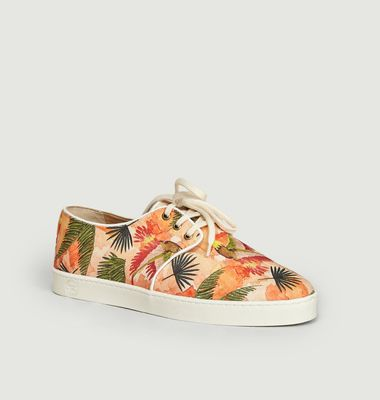 Sneakers en toile wax Libreville