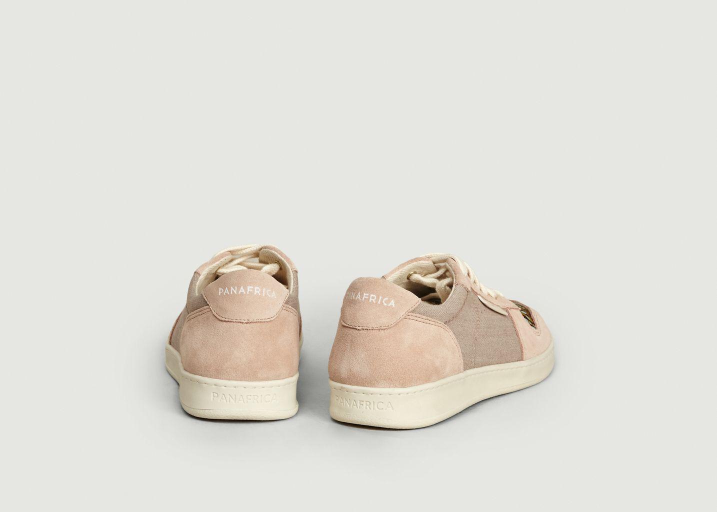 Sneakers en daim et toile Sahara - Panafrica