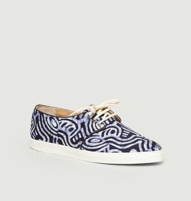 Sneakers en toile batik Bujumbura