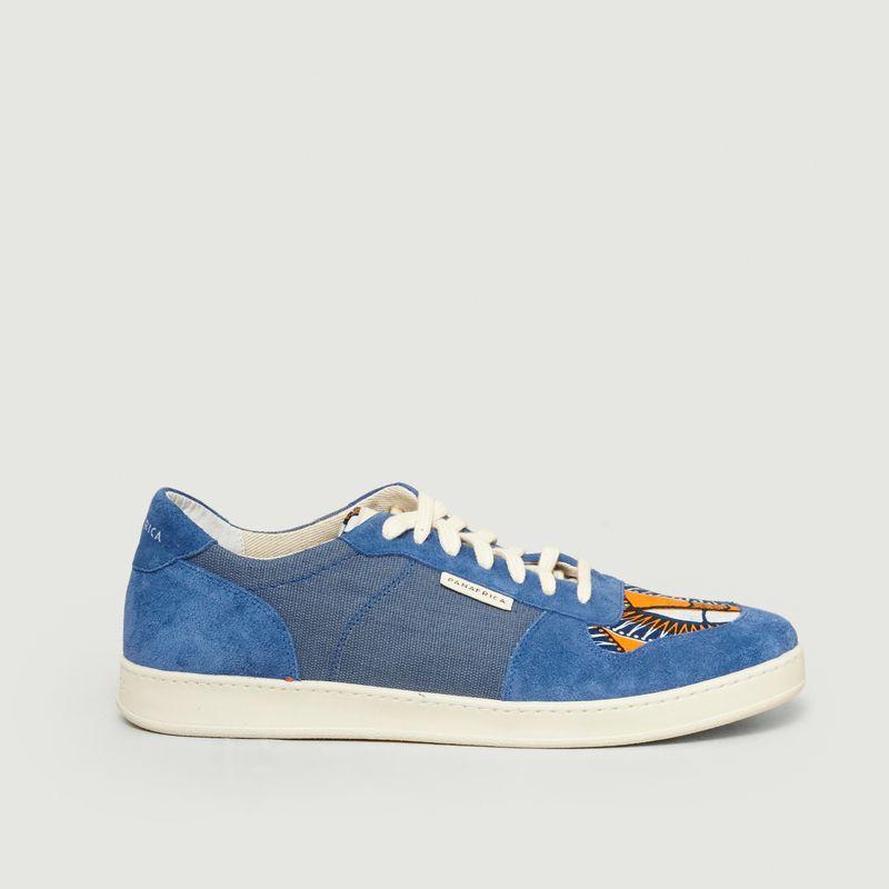 Sneakers daim et denim Sahara - Panafrica