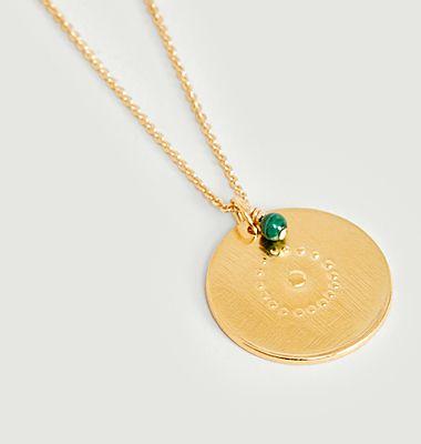 Collier médaille vermeil Cible