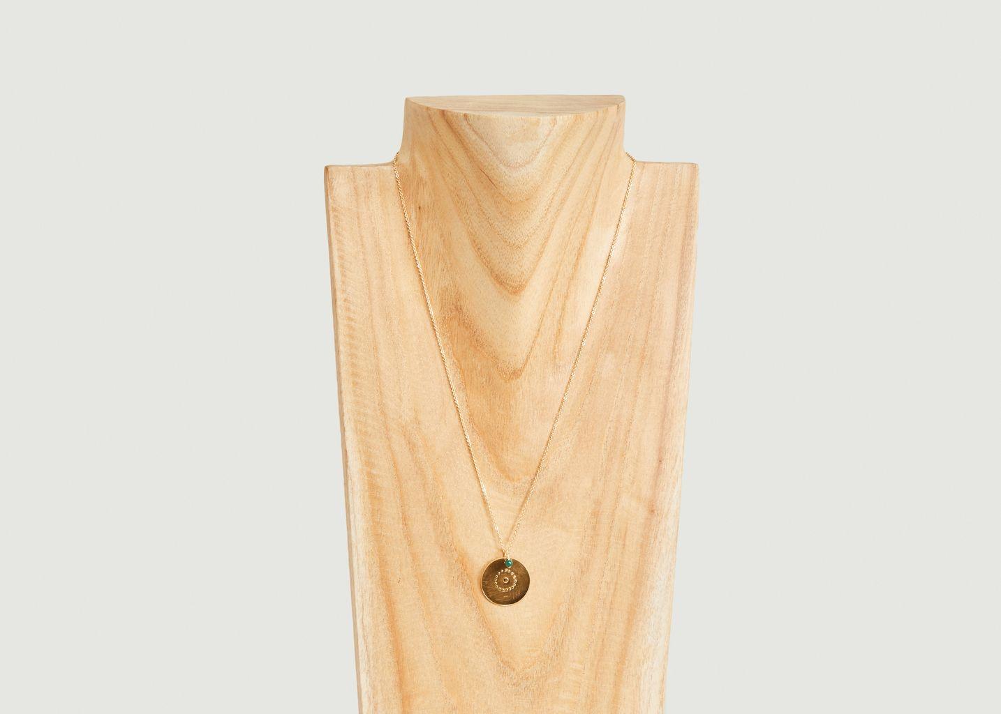 Collier médaille vermeil Cible - Par Coeur