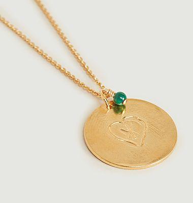 Collier médaille vermeil Coup de Cœur