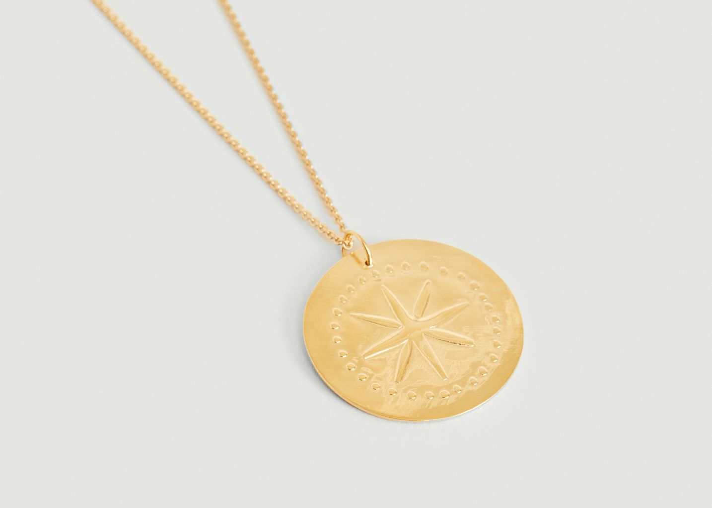 Collier médaille vermeil Étoile - Par Coeur