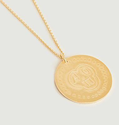 Collier médaille vermeil Ti Amo