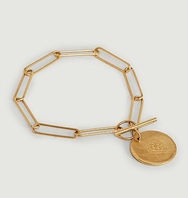 Bracelet vermeil XL Médaille 4ème Dimension