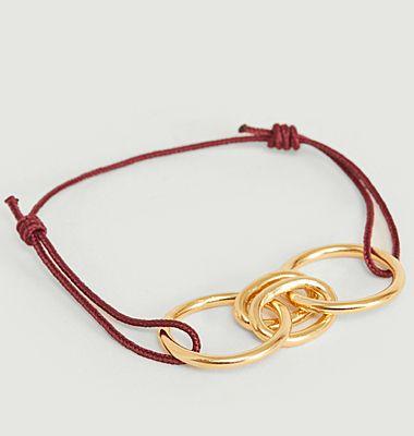 Bracelet cordon et anneaux vermeil Ronda S
