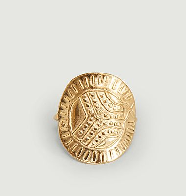 Bague en vermeil médaille Templiers