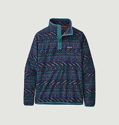 Snap-T fancy pattern fleece sweatshirt