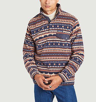 Snap-T fancy print slim fit fleece jacket