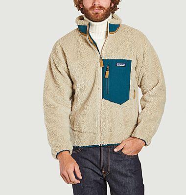 Retro X zipped fleece jacket