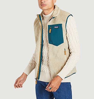 Retro X sleeveless zipped fleece jacket