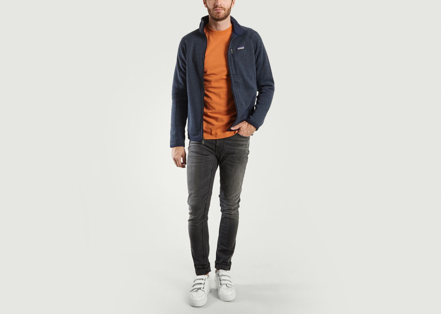 Zippé Bleu L'exception Doublé Marine Polaire Sweat Patagonia Better Px1pSqw