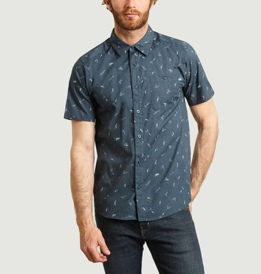 Go To short sleeves surfers print shirt