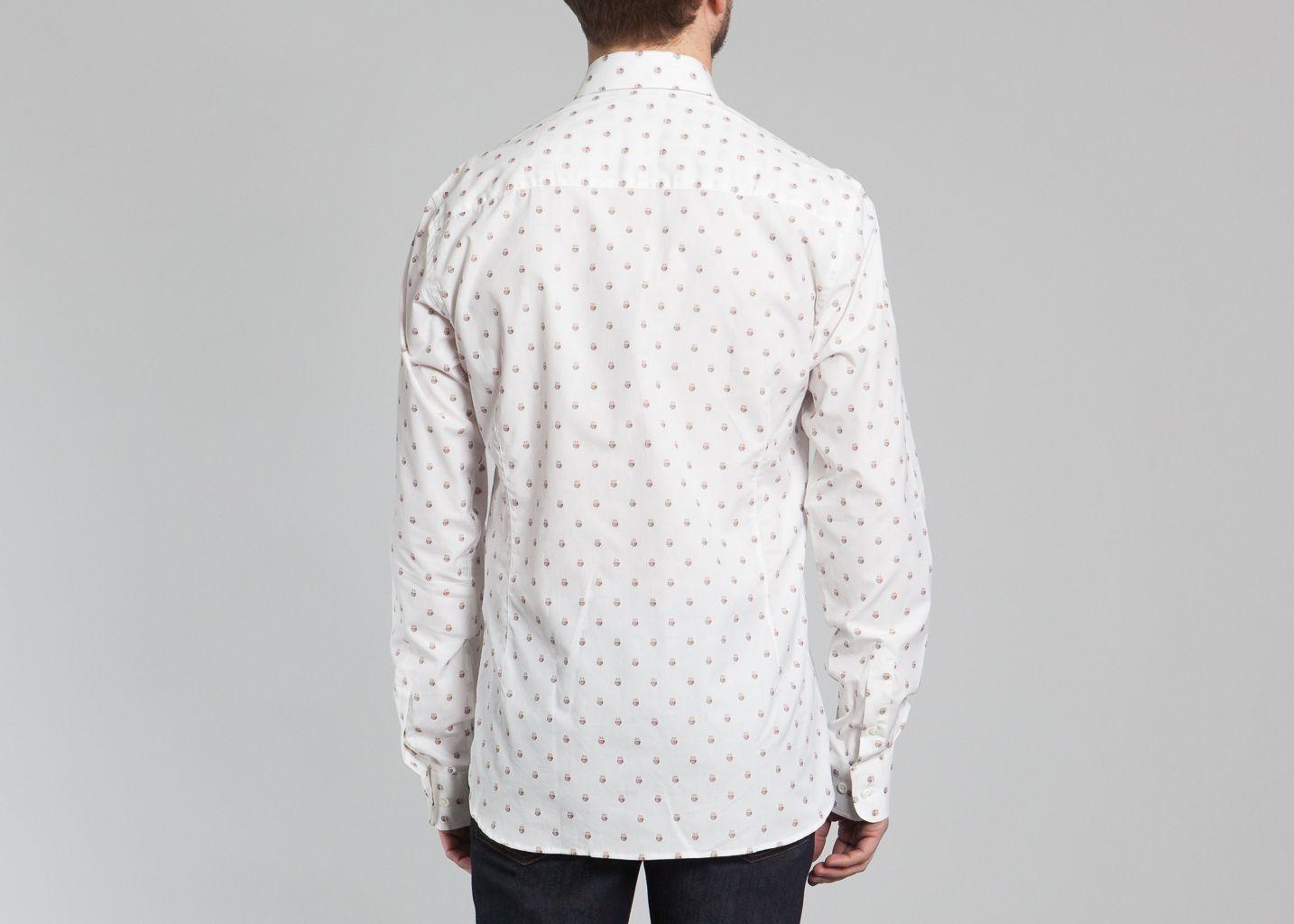 chemise xibou paul joe blanc l 39 exception. Black Bedroom Furniture Sets. Home Design Ideas