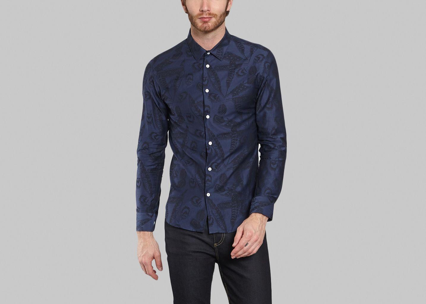 chemise tam sange paul joe bleu marine l 39 exception. Black Bedroom Furniture Sets. Home Design Ideas