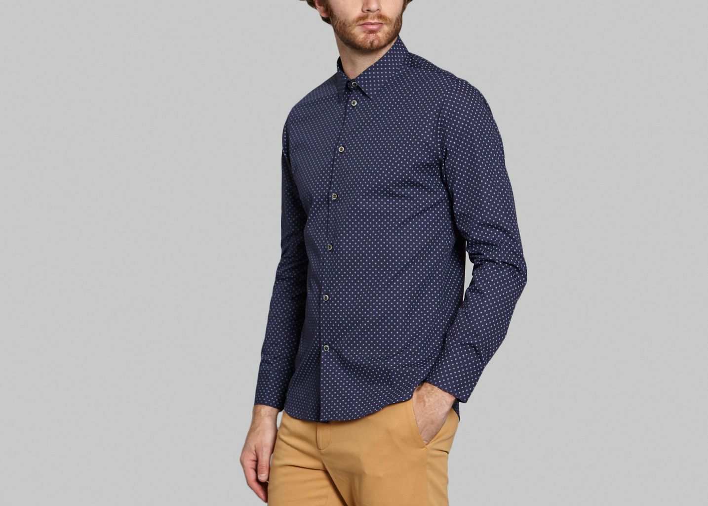 846fe26a850bf8 Woven Shirt Navy Blue Paul   Joe   L Exception