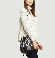 Solenne Jacquard Bucket Bag
