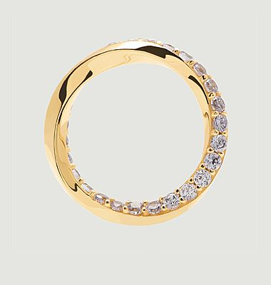 Cavalier gold plated silver ring
