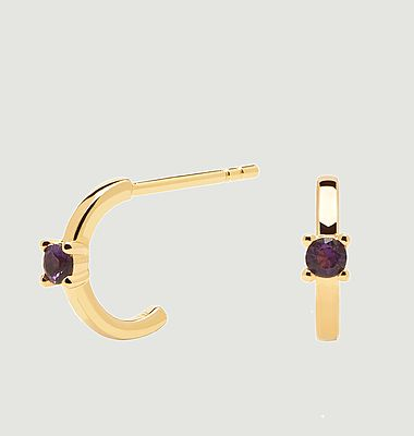 Boucles d'oreilles en argent plaqué or Lux Cavalier