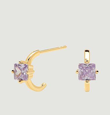 Boucles d'oreilles en argent plaqué or Lavender Lis Cavalier