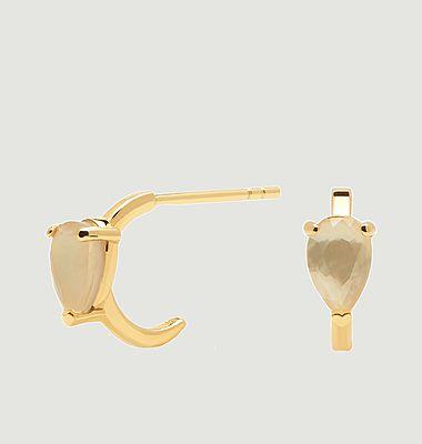 Boucles d'oreilles en argent plaqué or Amber Eclair Cavalier