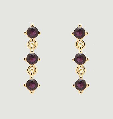 Boucles d'oreilles en argent plaqué or Scarlet Cavalier