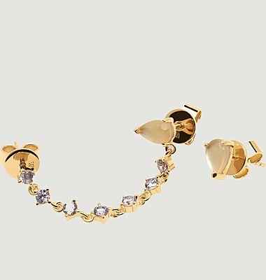 Boucles d'oreilles en argent plaqué or Joanne Cavalier
