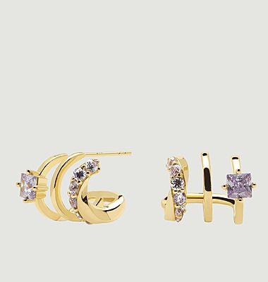 Boucles d'oreilles en argent plaqué or Royal Cavalier