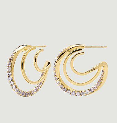 Boucles d'oreilles en argent plaqué or Majestica Cavalier