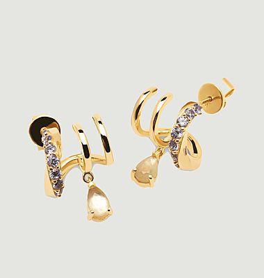 Boucles d'oreilles en argent plaqué or Lumière Cavalier