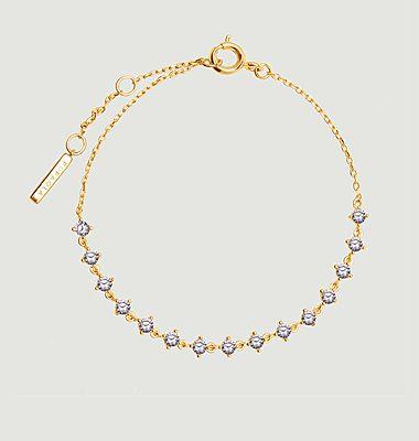 Bracelet fin en argent plaqué or Victoria Cavalier