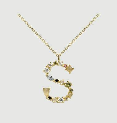 S letter necklace