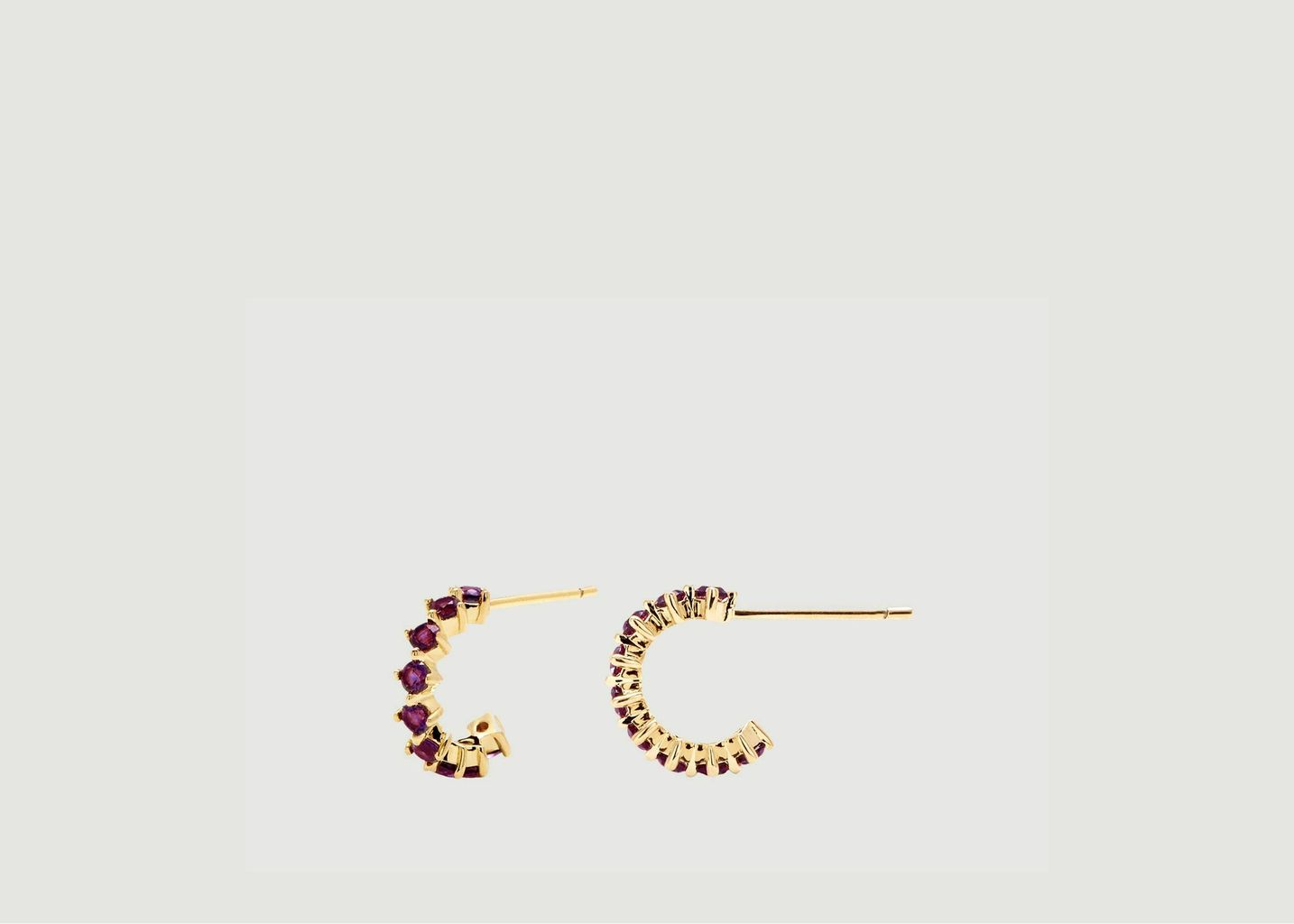 Créoles Mini Violet Bird - PDPAOLA