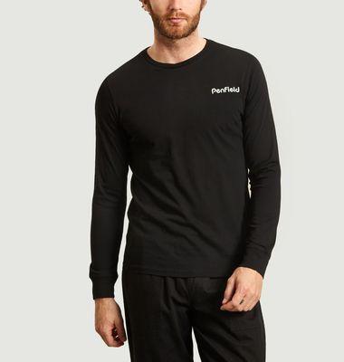 T-shirt manches longues en coton bio Dedham