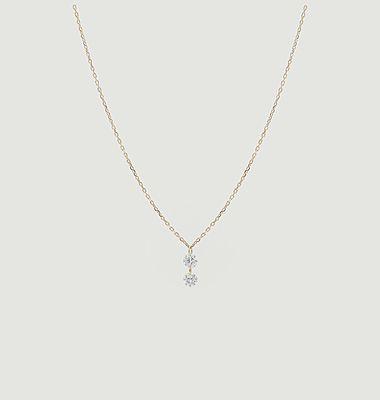 Collier chaîne or et diamants Danaé