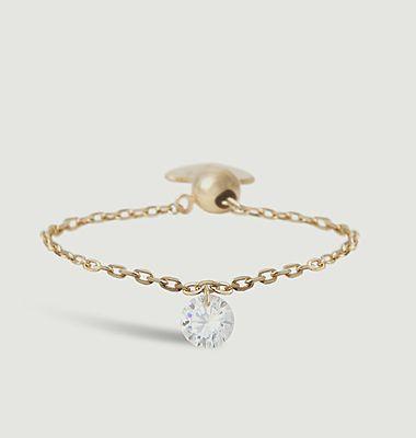 Bague chaîne or et diamant Danaé