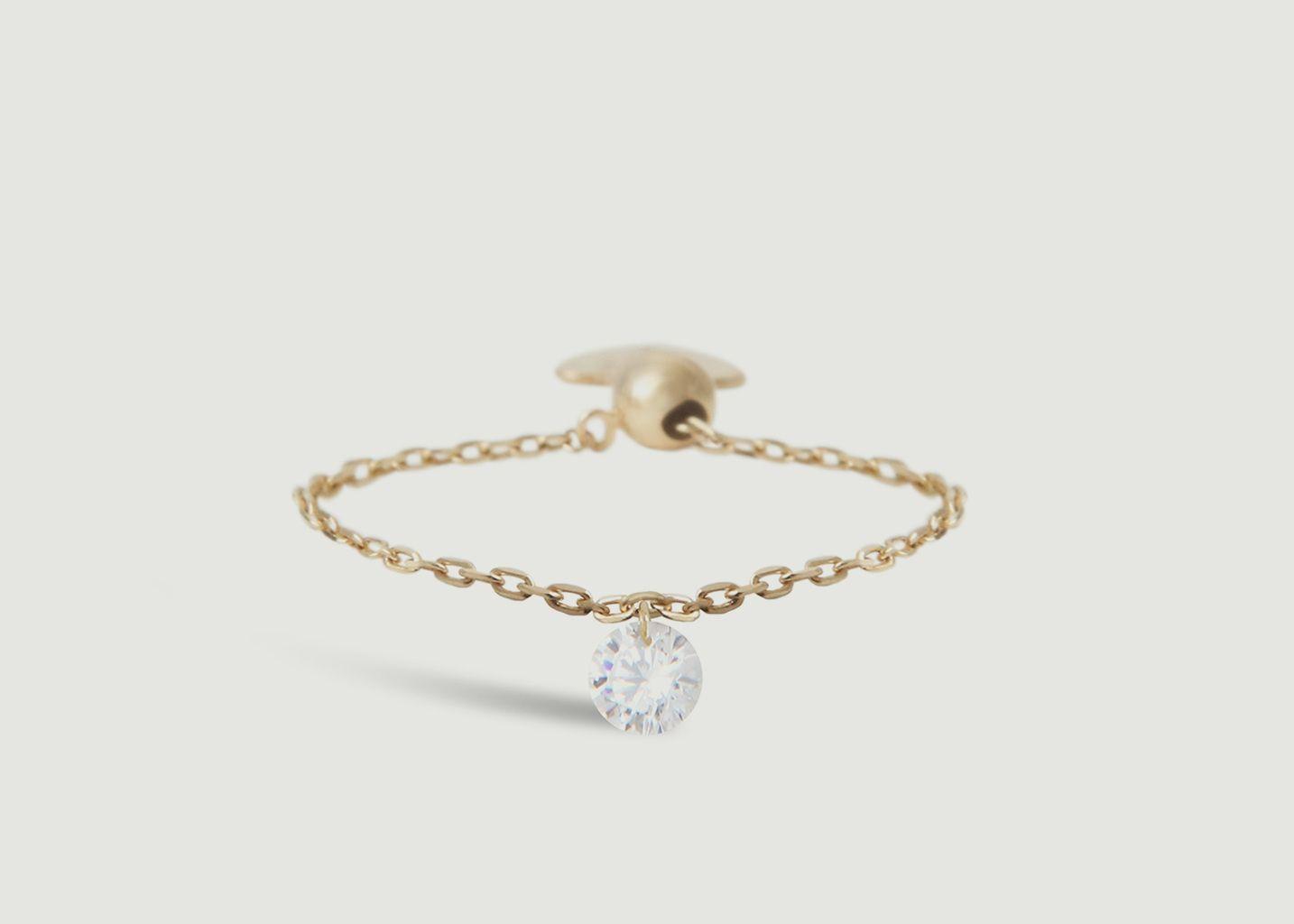 Bague chaîne or et diamant Danaé - Persée Paris