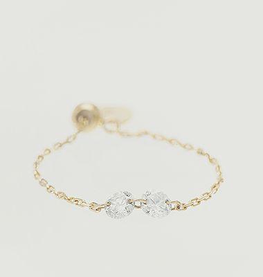 Bague chaîne or et diamants Danaé
