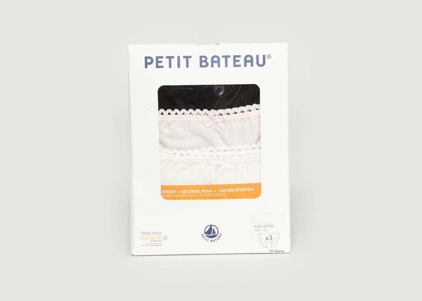 Lot de 3 Culottes - Petit Bateau