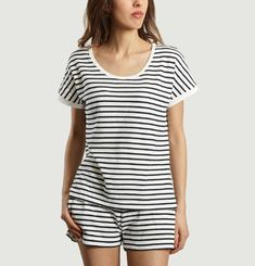 Ribbon Striped T-shirt
