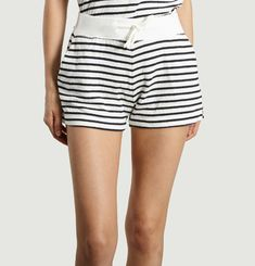 Ribbon Striped Shorts