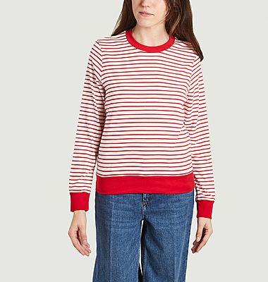 T-shirt marinière manches longues en coton