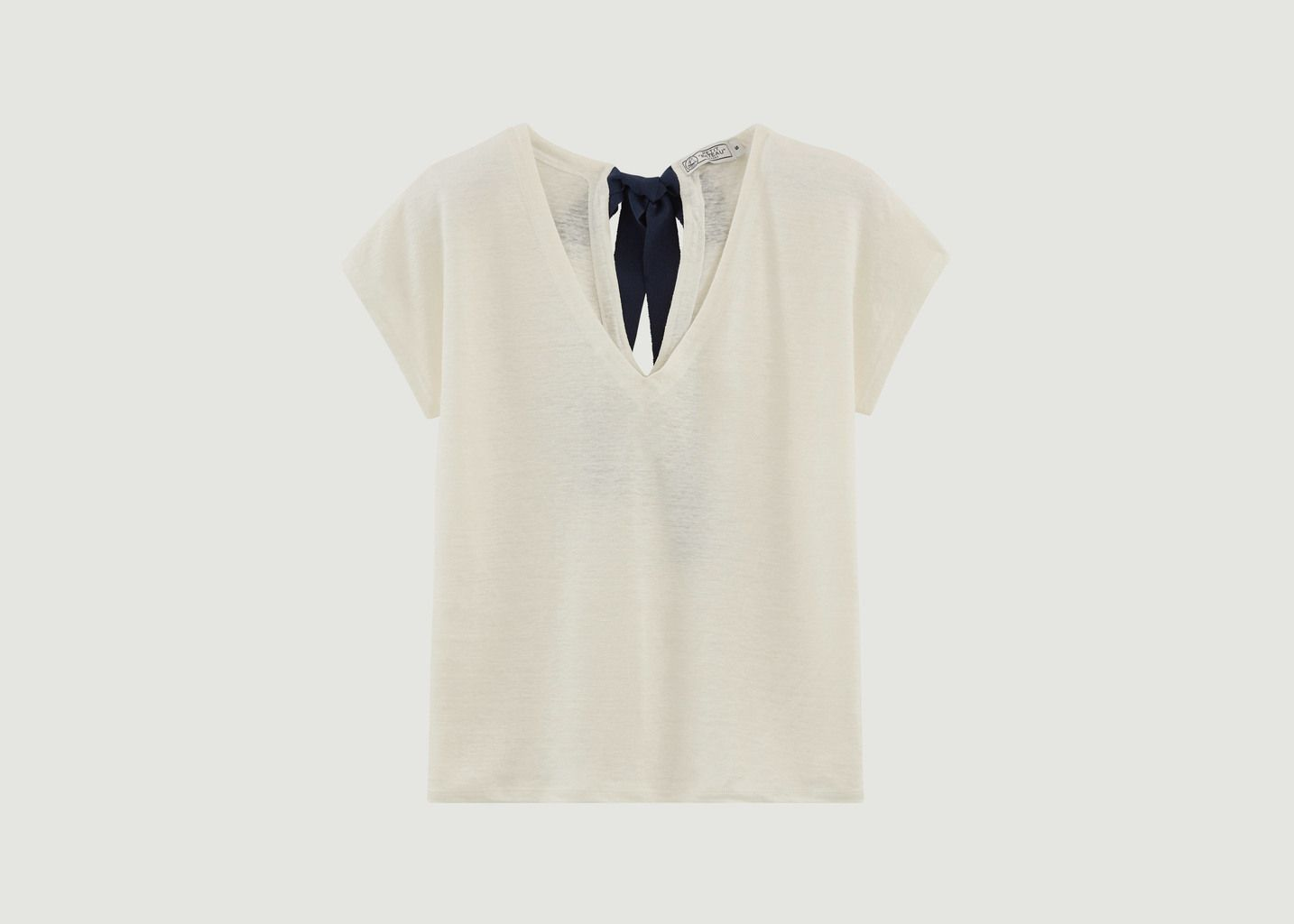 T-Shirt En Lin Noué Au Dos - Petit Bateau