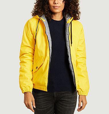 Lynux waterproof zipped hooded puffy rain coat